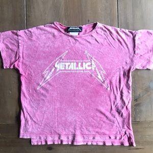 Zara Metallica pink T-shirt 7 years girl
